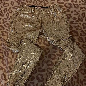 Sequin gold leggings!!